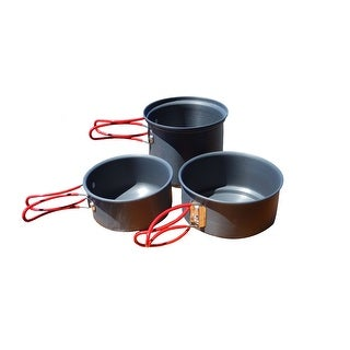 Alpine Mountain Gear Backpacker Hard Anodized Cookset-3 Pc AMGCKSET/S