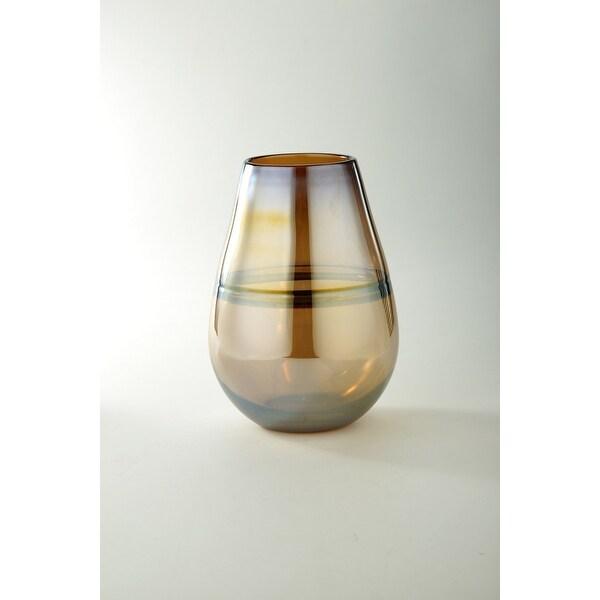 "11"" Rustic Brown Glass Flower Vase Tabletop Decor - N/A"