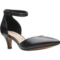 dc27aab11dbf Clarks Women s Linvale Edyth Ankle Strap Sandal Black Full Grain Leather