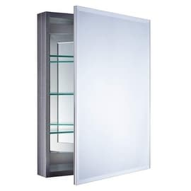 """Miseno MBC3023 Carlentini 30""""H x 23""""W Beveled Recessed or Surface Mount Mirrored Medicine Cabinet"""