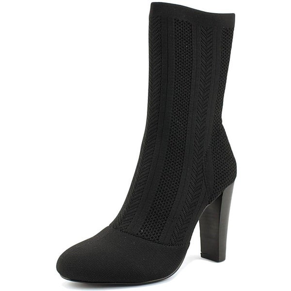 Charles By Charles David Shirley Women Round Toe Canvas Black Ankle Boot