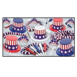 Decorative Spirit Of America Party Assortment for 10 People - Multi