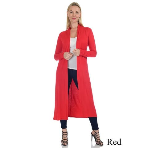 Simply Ravishing Women's Long Sleeve Floor Length Open Cardigan (Size: S-5X)