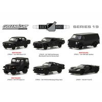 Black Bandit Series 19, 6pc Set 1/64 Diecast Models by Greenlight