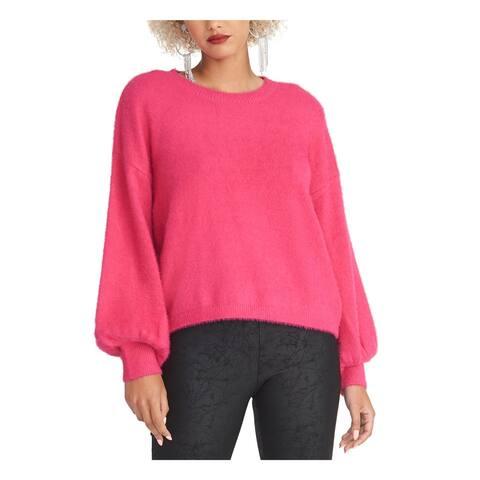 RACHEL ROY Womens Pink Long Sleeve Crew Neck T-Shirt Sweater Size L