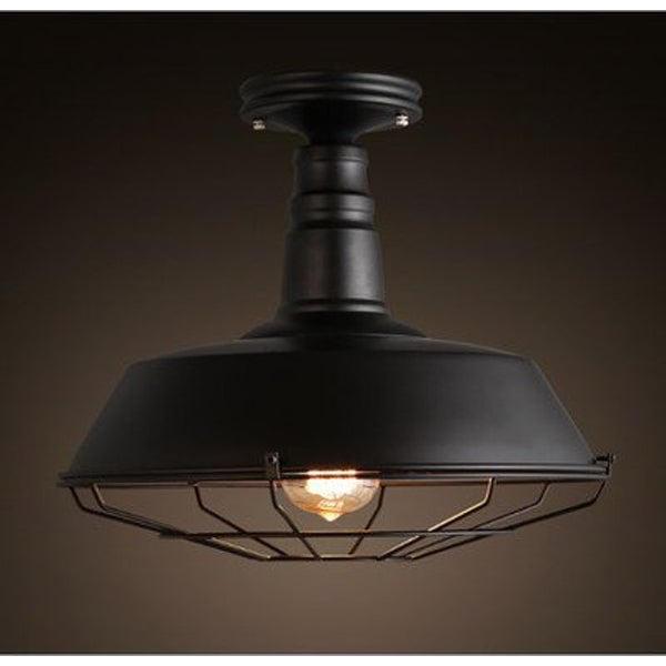 Shop Simple Industrial Barn Ceiling Light With Black