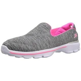 Skechers Kids Girls' Go Walk 3-Reboot Loafer,Gray,