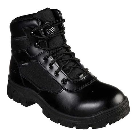 Skechers Men's Work Relaxed Fit Wascana Benen WP Tactical Boot Black