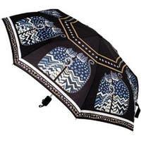 """Polka Dot Cats - Laurel Burch Compact Umbrella 42"""" Canopy Auto Open/Close"""