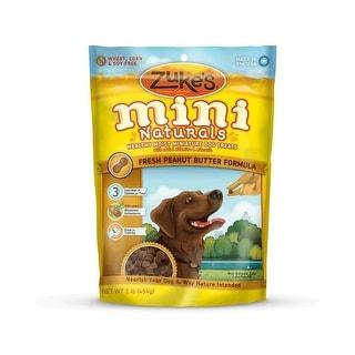 Zuke's Mini Naturals Moist Miniature Treat for Dogs Peanut Butter 1 lbs.