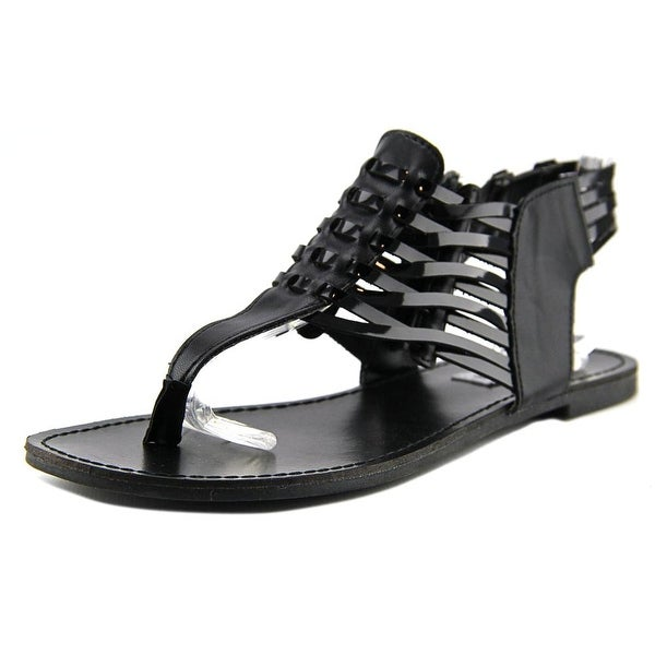 Steve Madden Sybilla Women Open Toe Synthetic Black Gladiator Sandal