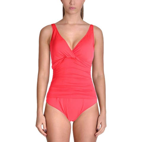 Lauren Ralph Lauren Womens Beach Twist Shirred One-Piece