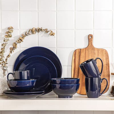 LOVECASA 16-Piece Porcelain Dinnerware Set (Service for 4)