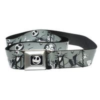 Walt Disney Seatbelt Belt - Nightmare Before Christmas - Skellington & Sally-Holds Pants Up
