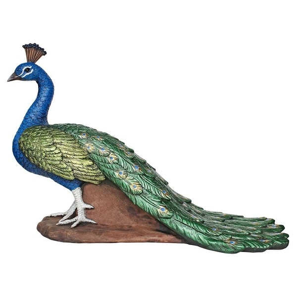 Design Toscano The Regal Peacock Garden Statue: Medium