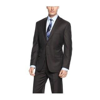 Tasso Elba Brown Stripe Wool Two Button Sportcoat 44 Regular 44R