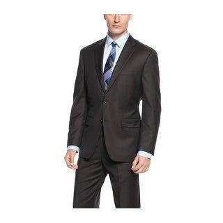 Tasso Elba Brown Striped Wool Two Button Sportcoat 40 Short 40S