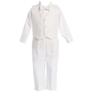 Link to Lito Baby Boys White Jacquard Vest Pant Elegant Christening Outfit Similar Items in Girls' Clothing