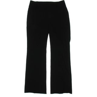 INC NEW Black Women's Size 4X33 Seamed Solid Front-Tab Dress Pants
