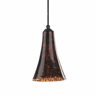 1 Light Mini Pendant with Glass Bell Shade