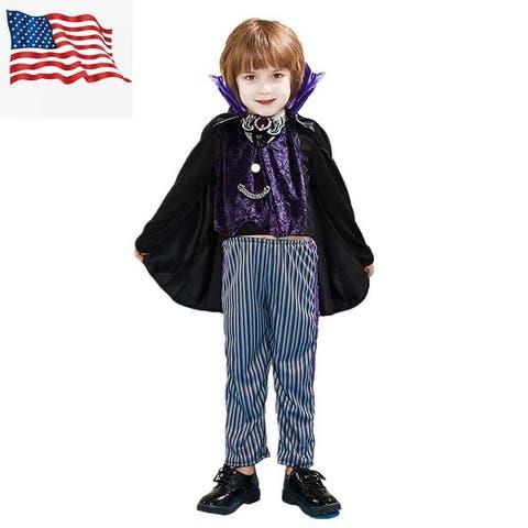 Eraspooky Toddler Baby's Vampire Costume with Pants Halloween Costume Fancy Dress