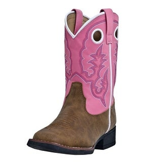 Laredo Western Boots Girls Kids Mahaska Infant Dark Brown Pink LC2268