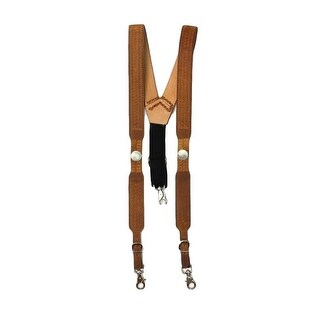 Nocona Suspenders Mens Galluse Buffalo Nickel Briar