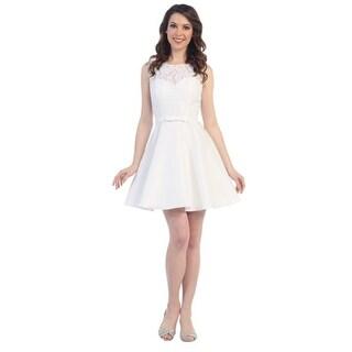 Short Lace Satin Dress