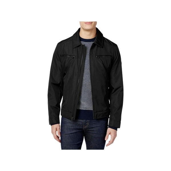 aee696d424a8 Shop MICHAEL Michael Kors Mens Basic Coat Casual Zip-Up - Free Shipping On  Orders Over  45 - Overstock - 22485879