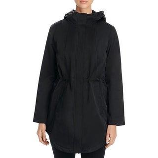 Eileen Fisher Womens Petites Coat Hooded Long