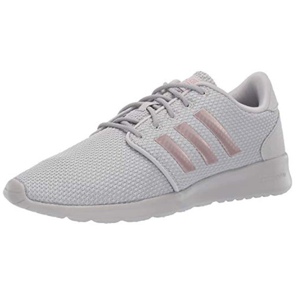 adidas Women's Cloudfoam QT Racer, Light GraniteCopper MetallicGrey, 5.5 M US