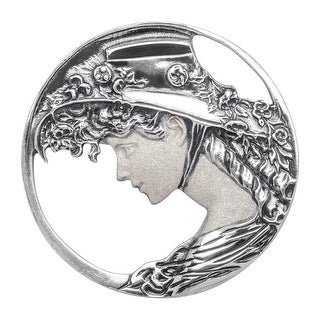 Van Kempen Art Nouveau Brooch in Sterling Silver - White