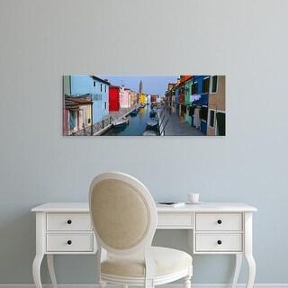 Easy Art Prints Panoramic Images's 'Houses along a canal, Burano, Venice, Veneto, Italy' Premium Canvas Art