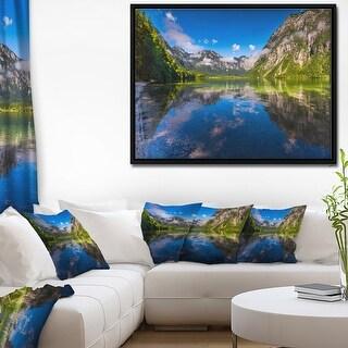 Link to Designart 'Bohinj Lake in Triglav National Park' Large Landscape Framed Canvas Art Print Similar Items in Art Prints