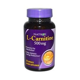 Natrol L-Carnitine - 500 mg - 30 Capsules