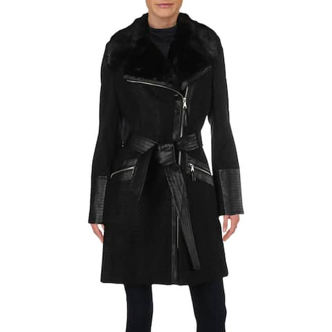 Via Spiga Womens Coat Wool Blend Asymmetric