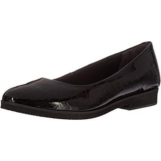 Walking Cradles Womens Bounce Loafers Patent Leather Embossed