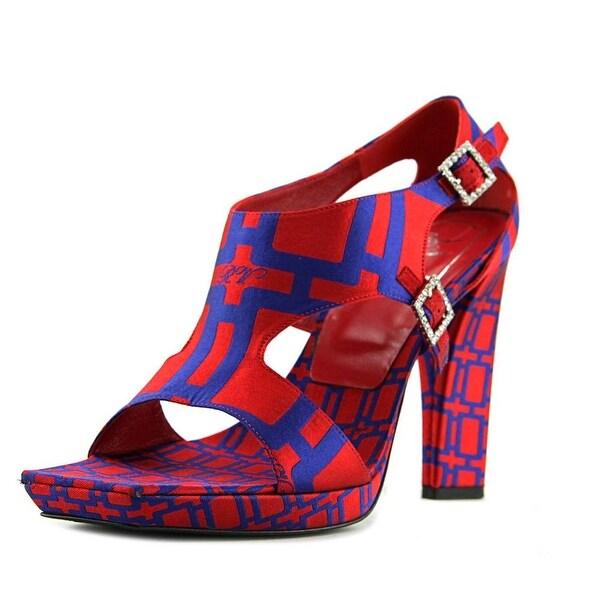 Roger Vivier Sandalo Mrs X T.115 Grosso Women Patent Leather Red Sandals