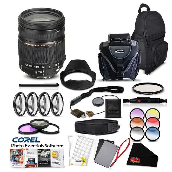 Tamron 28-300 F/3.5-6.3 XR DI VC Lens for Nikon Pro Accessory Kit - Black