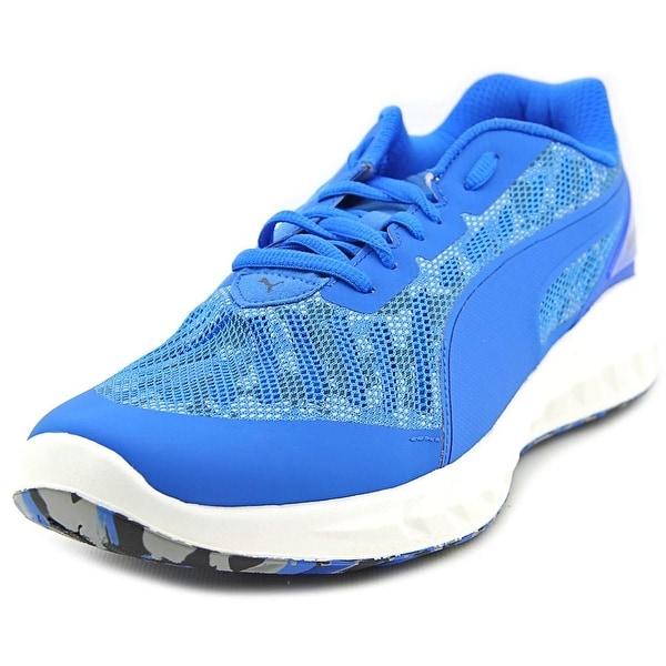 Puma Ignite Ultimate Cam Round Toe Canvas Running Shoe