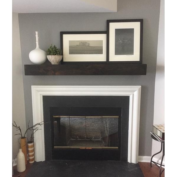 Modern Farmhouse Fireplace Mantel Shelf Free Shipping Today 21652584