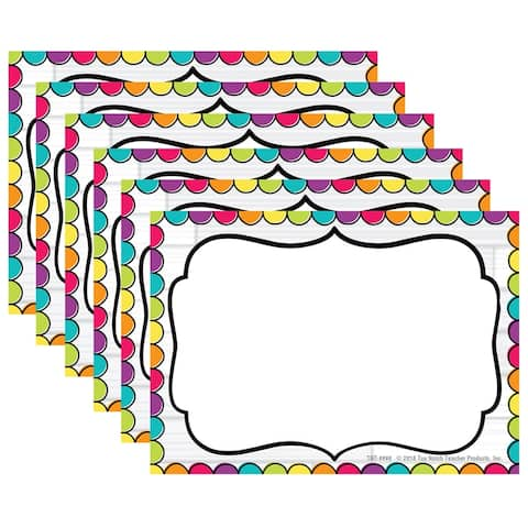 DIY Dots Name Tags, 32 Per Pack, 6 Packs - One Size