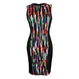 Calvin Klein Women's Sleeveless Scuba Dress