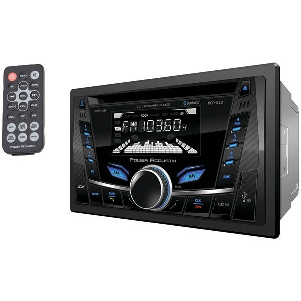 Power Acoustik Pcd-52B Double-Din In-Dash Cd/Mp3 Am/Fm Receiver With Bluetooth(R) & Usb Playback