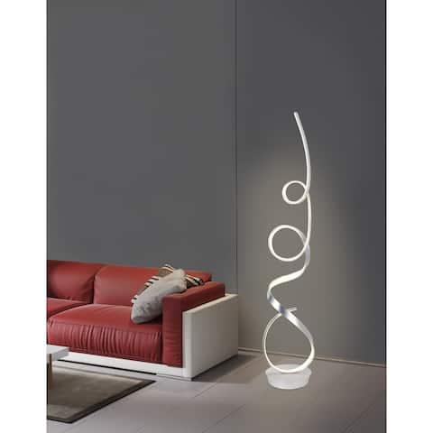 Unique Modern Integrated LED Floor Lamp, Anodize Aluminum - 63.00