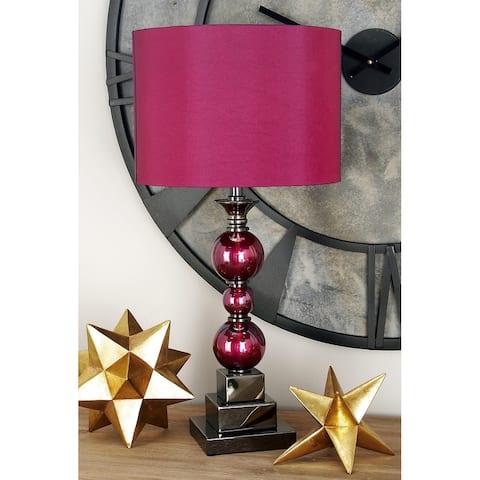 Portable Metal Glass Table Lamp