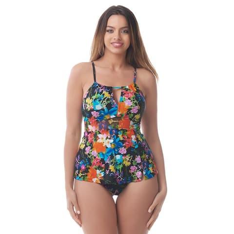 Sea & Sand Beachwear Keyhole Swimdress Bathing Suit