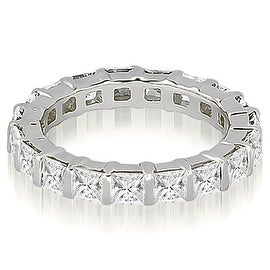 3.25 cttw. 14K White Gold Princess Diamond Eternity Ring