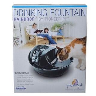 Pioneer Raindrop Ceramic Drinking Fountain - Black 60 oz