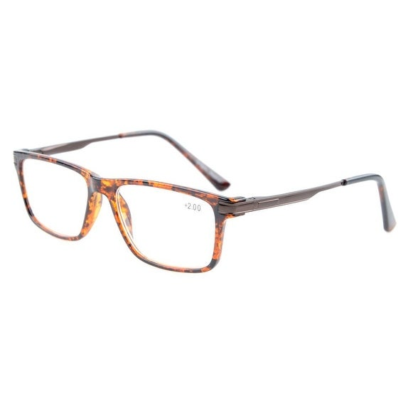 Eyekepper TR90 Frame Metal Spring Arms Noline Bifocal Multifocus Anti Glare Computer Eyeglasses(DEMI +1.00)